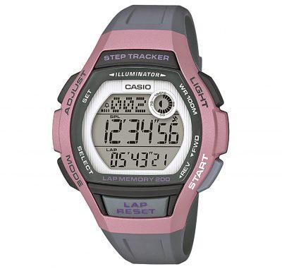Casio LWS-2000H-4AVEF Digitale Armbanduhr für Damen mit Schrittzähler