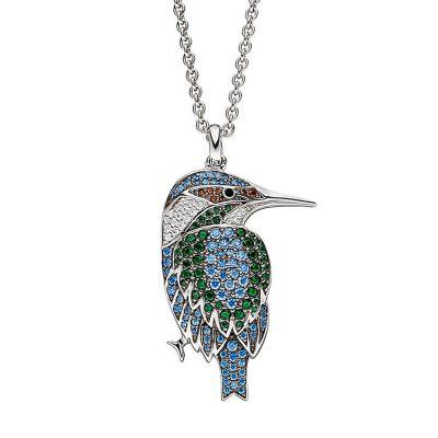 Viventy 782582 Damen-Halskette aus Silber Eisvogel
