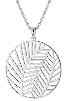 trendor 51022 Damen-Halskette mit Anhänger Palmenblätter 925 Silber