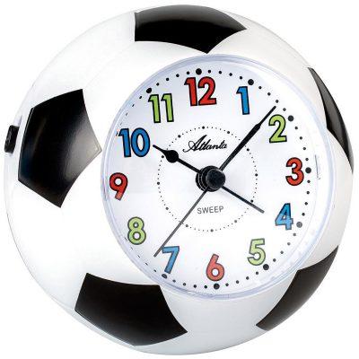 Atlanta 1199 Fußball-Wecker für Kinder mit Leisegang