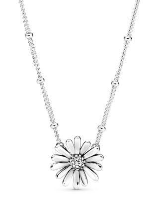 Pandora 398964C01-45 Damen-Kette Pavé Gänseblümchen Silber