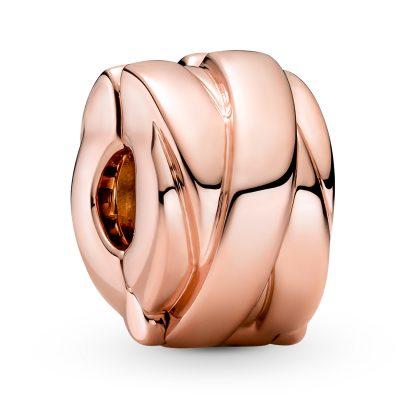 Pandora 789502C00 Clip Charm Polierte Bänder Roséfarben