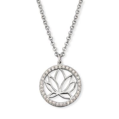Engelsrufer ERN-LOTUS-ZI Silber Damen-Halskette Lotus