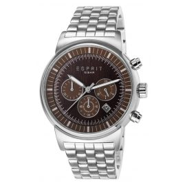 Esprit ES106851005 Woodward Silver Brown Herrenuhr