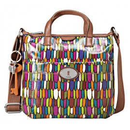Fossil ZB5125 Key-Per Crossbody Ladies Bag Multi