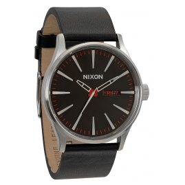 Nixon A105 000 Sentry Leather Black Herrenuhr
