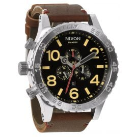 Nixon A124 019 Chrono Leather Black Brown Herrenuhr