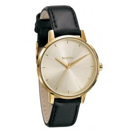 Nixon A108 501 Kensington Leather Gold Damenuhr