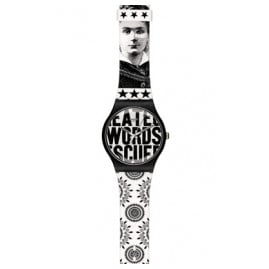 Swatch SUOZ124 Words Wrist Watch