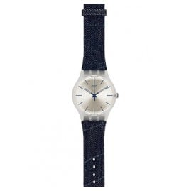 Swatch SUOK103 White Washed Out Gents Watch