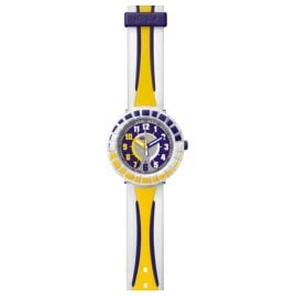 Flik Flak FCSP010 All Around Yellow & Purple Kinderuhr