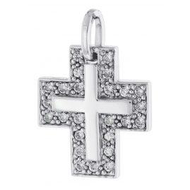 trendor 64437 Silber Anhänger Kreuz