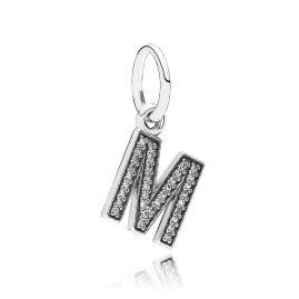 Pandora 791325CZ Silber Anhänger Buchstabe M