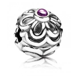 Pandora 790953AM Clip-Element Blume mit Amethyst