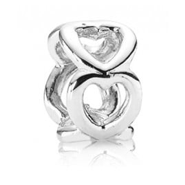 Pandora 790454 Spacer Silver Opened Hearts