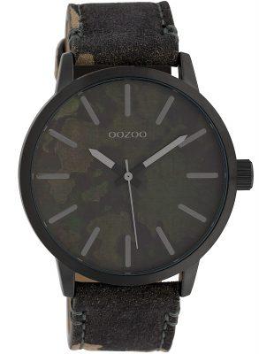 Oozoo C10004 Armbanduhr Camouflage Dunkelgrün 45 mm