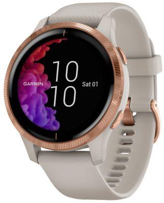 Garmin 010-02173-22 Venu GPS Fitness-Smartwatch Beige/Roségold