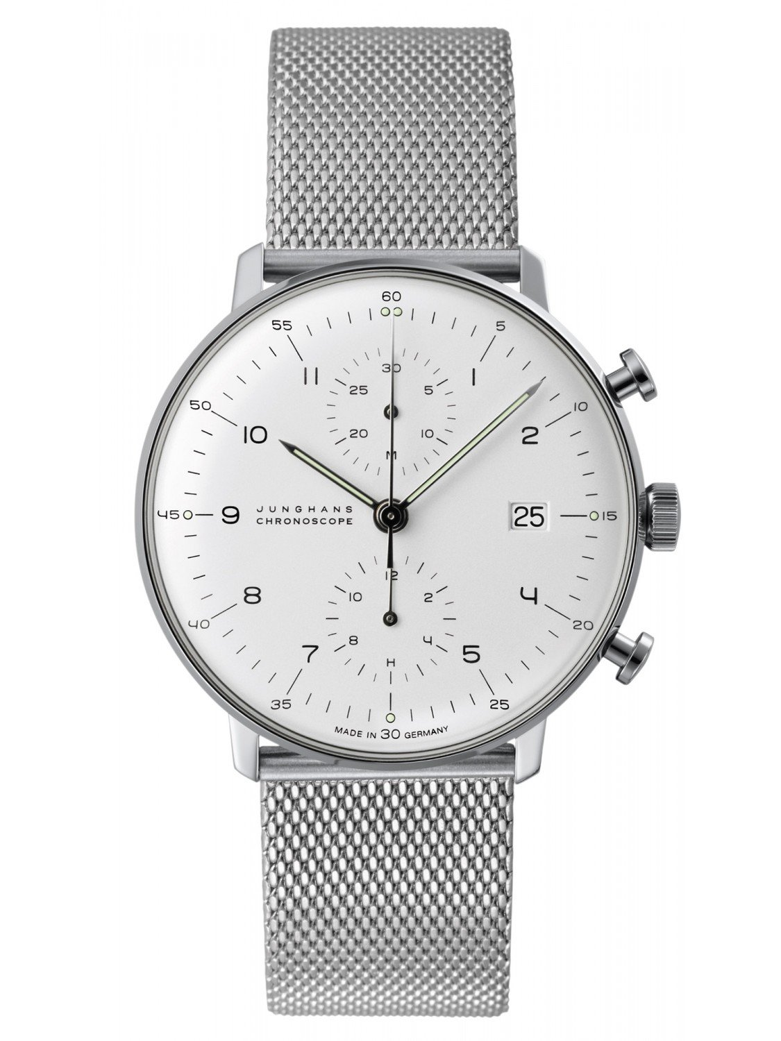 junghans 027 max bill chronoscope gents watch. Black Bedroom Furniture Sets. Home Design Ideas