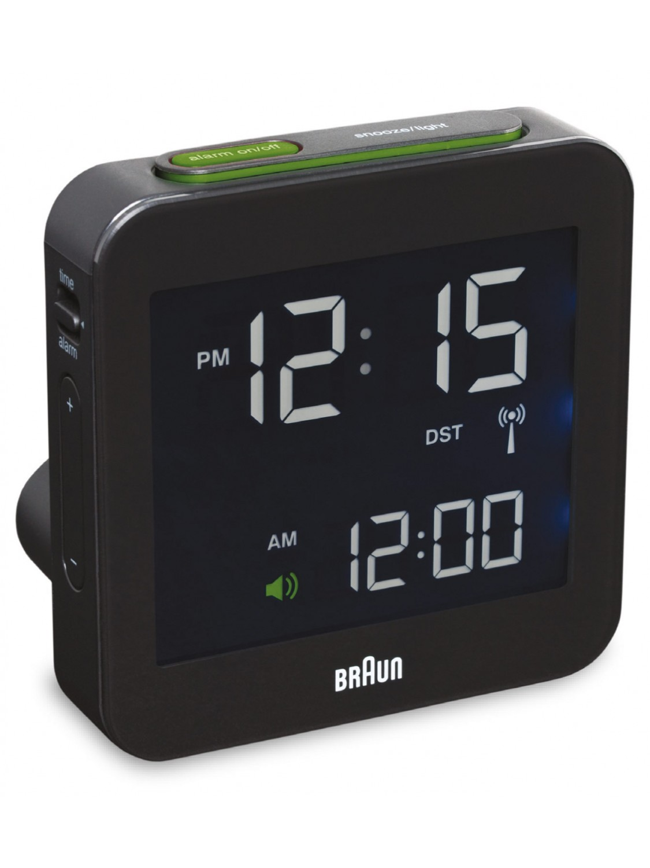 portable audio for sale braun 66009 radio alarm clock black. Black Bedroom Furniture Sets. Home Design Ideas