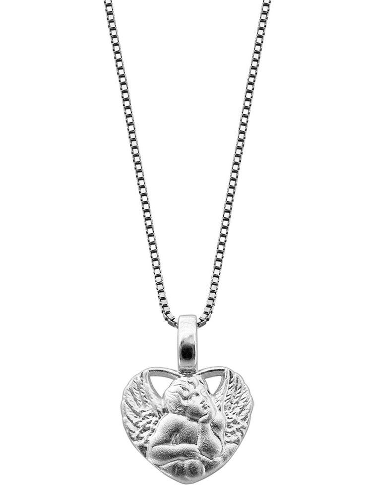trendor 48979 Amorherz Anhänger mit Kette Silber Preisvergleich