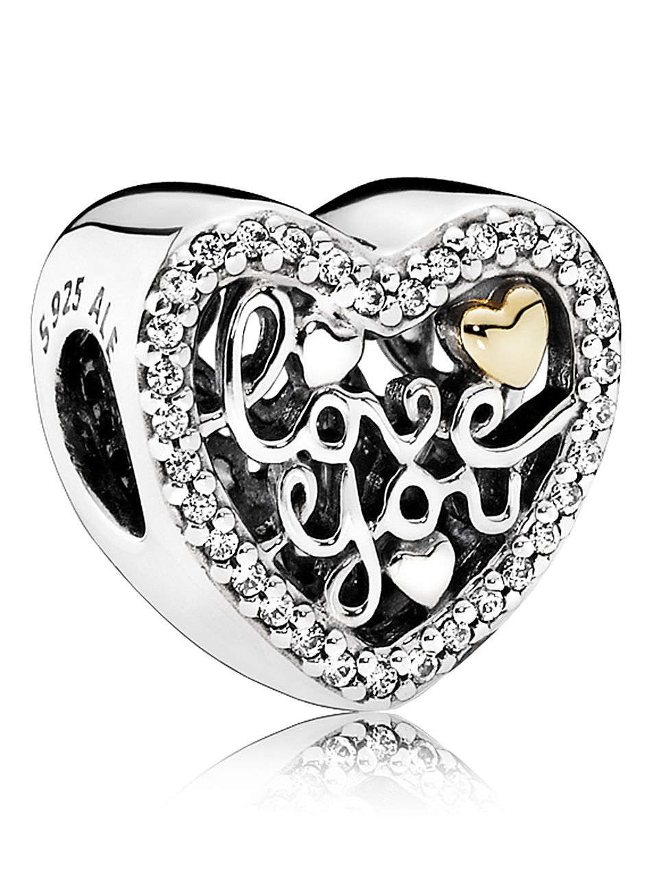 Pandora 792037CZ Charm Love You