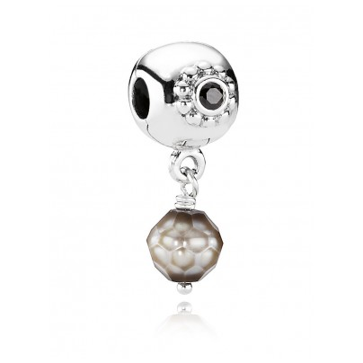 Pandora 790873PSG Clip Element Graue Perle