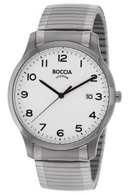 Boccia 3616-01 Titan-Herrenuhr mit Zugband