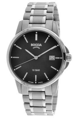 Boccia 3633-07 Herrenuhr Titan mit Saphirglas