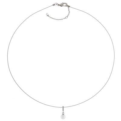 Boccia 08036-01 Damen-Halskette mit Titan Perlen-Anhänger