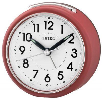 Seiko QHE125R Wecker mit Leisegang Rot
