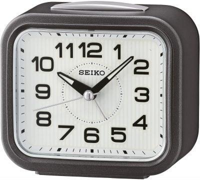Seiko QHK050N Wecker mit Klingel-Alarm anthrazit