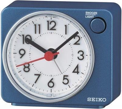 Seiko QHE100E Wecker Reisewecker Quarz Leisegang Blau