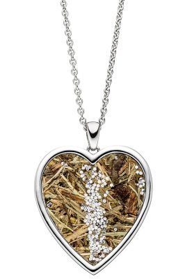 Viventy 783212 Silber-Collier für Damen Herz mit Wildspitze