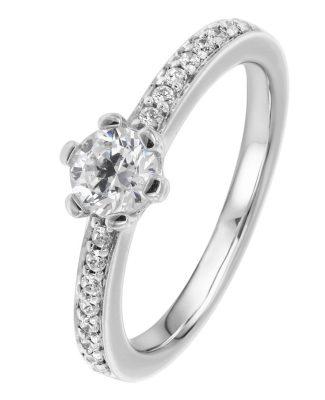 Viventy 775201 Verlobungsring Silber 925 Antragsring Zirkonia Damen-Ring