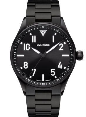 Junkers 9.03.01.02.M Herren-Armbanduhr mit Metallband Flieger Schwarz