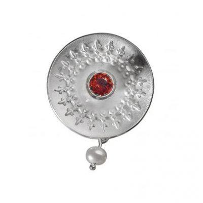 Allaxo 22182GR Anhänger Silber 925 mit Granat