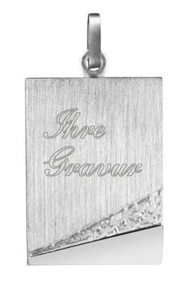 trendor 87301 Silber Anhänger Gravurplatte