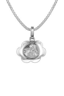 trendor 73136 Silber Halskette mit Schutzengel-Anhänger