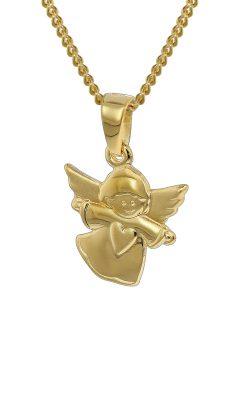 trendor 35820 Gold Anhänger Engelchen und Kette für Kinder