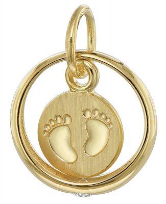 trendor 08276 Taufring mit Baby-Fußabdruck 333 Gold (8 Karat)