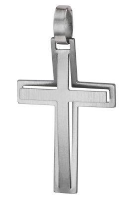 trendor 08919 Kreuz-Anhänger Edelstahl 30mm