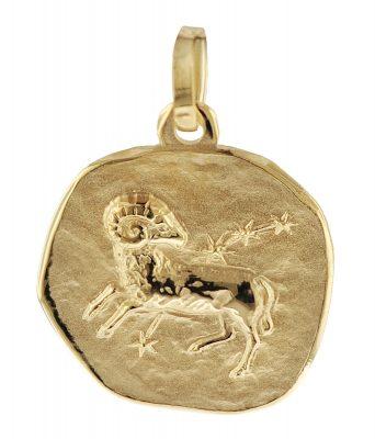 trendor 08961 Sternzeichen-Anhänger Widder 585 Gold 16 mm