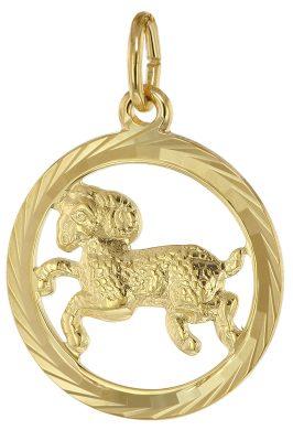 trendor 39000-04 Sternzeichen Widder 333 Gold Anhänger Ø 16 mm