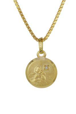 trendor 35932 Gold-Anhänger Amor mit Brillant