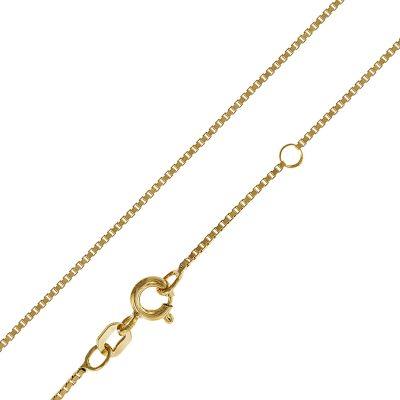 trendor 35913 Halskette für Frauen Gold auf Silber 925 Veneziakette 42/40 cm