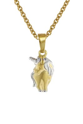 trendor 08552 Einhorn Anhänger an Kinder-Halskette Gold 333/8 Karat