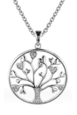 trendor 08817 Halskette für Frauen mit Lebensbaum Silber 925
