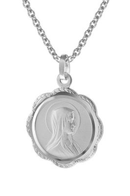 trendor 75113 Madonna-Anhänger mit Damen-Halskette 925 Silber
