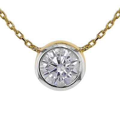 trendor 75347 Halskette mit Zirkonia-Anhänger Gold 585 / 14K