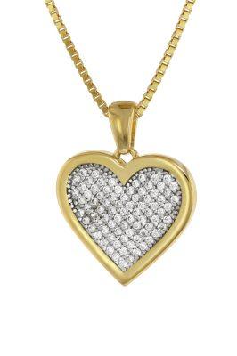 trendor 75560 Herz-Anhänger Gold 333 + vergoldete Silberkette
